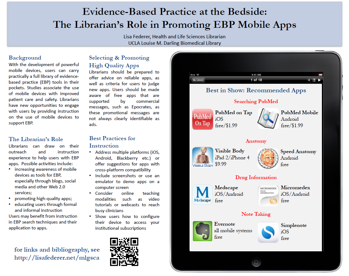 Virtual Poster 4: Evidence-Based Practice at the bedside: The