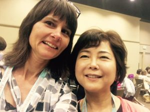 Andrea Harrow (Spring 2017 Professional Development Awardee) and Helen Chang (her roommate for MLA2017)